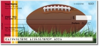 Click on Red & Gold Football Fan Personal Checks For More Details