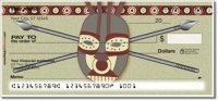 Click on African Tribal Mask Personal Checks For More Details