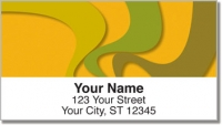 Click on Abstract Orange Address Labels For More Details