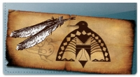 Click on Native American Bird Symbol Checkbook Cover For More Details