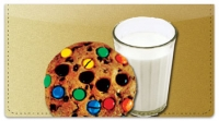 Click on Milk & Cookie Checkbook Cover For More Details