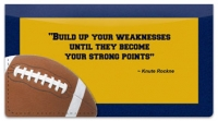 Click on Knute Rockne Checkbook Cover For More Details