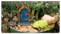 Click on Miniature Fairy Garden Checkbook Cover For More Details