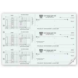 Click on 3-On-A-Page Payroll Check Works With Window Envelope For More Details