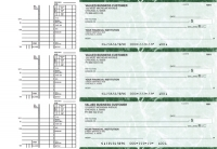 Click on Green Marble Multi Purpose Business Checks For More Details