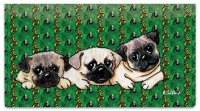 Click on Pug Series Checkbook Cover For More Details