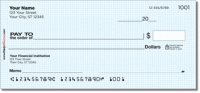 Click on Classic Blue Personal Checks For More Details