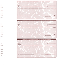 Click on Red Marble Blank 3 Per Page Wallet Checks For More Details