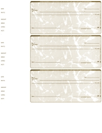 Click on Tan Marble Blank 3 Per Page Wallet Checks For More Details