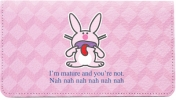 Click on It's Happy Bunny Insults Leather Cover For More Details