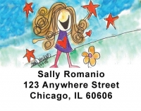 Click on Girlie Girls Address Labels by Amy S. Petrik For More Details