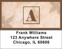 Click on Simplistic Monogram A Address Labels For More Details