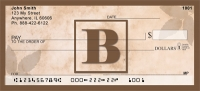 Click on Simplistic Monogram B Personal Checks For More Details