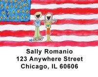 Click on Patriotic Address Labels by Amy S. Petrik For More Details
