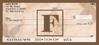 Click on Simplistic Monogram F Personal Checks For More Details