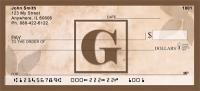 Click on Simplistic Monogram G Personal Checks For More Details