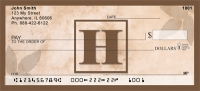Click on Simplistic Monogram H Personal Checks For More Details