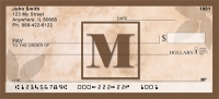Click on Simplistic Monogram M Personal Checks For More Details