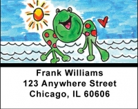 Click on Marina Frog Address Labels by Amy S. Petrik For More Details