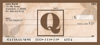 Click on Simplistic Monogram Q Personal Checks For More Details