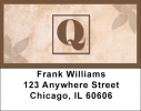 Click on Simplistic Monogram Q Address Labels For More Details
