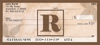 Click on Simplistic Monogram R Personal Checks For More Details