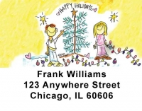 Click on Happy Holidays: Tree Address Labels by Amy S. Petrik For More Details