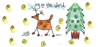 Click on Joy to the World Address Labels by Amy S. Petrik For More Details