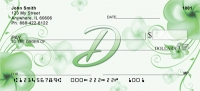 Click on Floral Monogram D Personal Checks For More Details