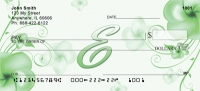 Click on Floral Monogram E Personal Checks For More Details