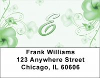 Click on Floral Monogram E Address Labels For More Details