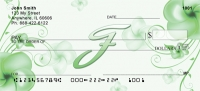 Click on Floral Monogram F Personal Checks For More Details