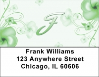 Click on Floral Monogram F Address Labels For More Details
