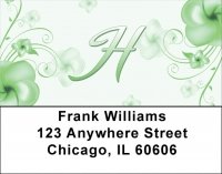Click on Floral Monogram H Address Labels For More Details
