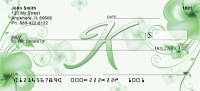 Click on Floral Monogram K Personal Checks For More Details