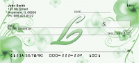 Click on Floral Monogram L Personal Checks For More Details