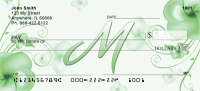 Click on Floral Monogram M Personal Checks For More Details