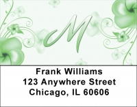 Click on Floral Monogram M Address Labels For More Details