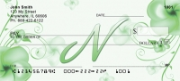 Click on Floral Monogram N Personal Checks For More Details