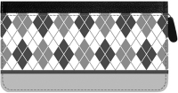 Click on Argyle New Black and White Zippered Checkbook Cover For More Details