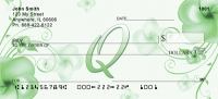 Click on Floral Monogram Q Personal Checks For More Details