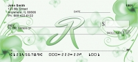 Click on Floral Monogram R Personal Checks For More Details