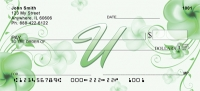 Click on Floral Monogram U Personal Checks For More Details