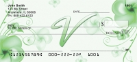 Click on Floral Monogram V Personal Checks For More Details