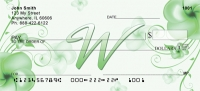 Click on Floral Monogram W Personal Checks For More Details