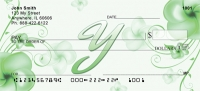 Click on Floral Monogram Y Personal Checks For More Details