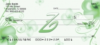 Click on Floral Monogram Z Personal Checks For More Details