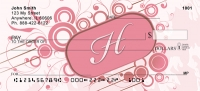 Click on Stylish Monogram H Personal Checks For More Details