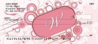 Click on Stylish Monogram W Personal Checks For More Details