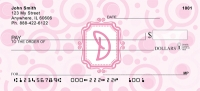 Click on Bubbly Monogram D Personal Checks For More Details